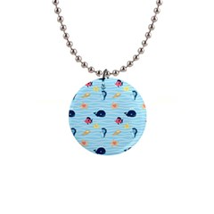 Fun Fish Of The Ocean Button Necklace