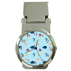Fun Fish Of The Ocean Money Clip With Watch