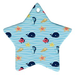 Fun Fish Of The Ocean Star Ornament (two Sides)