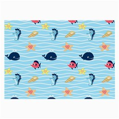 Fun Fish of the Ocean Glasses Cloth (Large, Two Sided)
