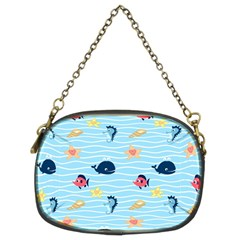 Fun Fish Of The Ocean Chain Purse (two Sided)