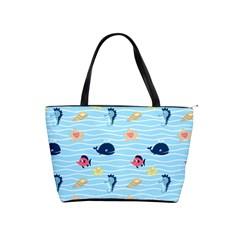 Fun Fish Of The Ocean Large Shoulder Bag
