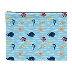 Fun Fish Of The Ocean Cosmetic Bag (xl)