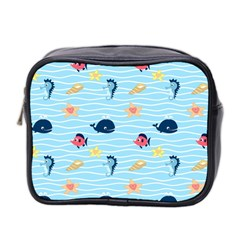 Fun Fish of the Ocean Mini Travel Toiletry Bag (Two Sides)