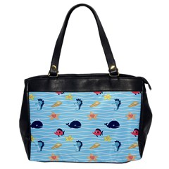 Fun Fish of the Ocean Oversize Office Handbag (One Side)