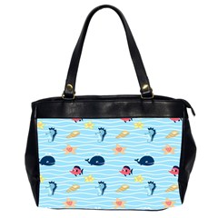 Fun Fish of the Ocean Oversize Office Handbag (Two Sides)