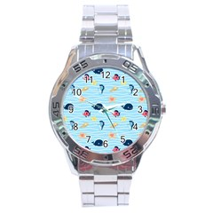 Fun Fish of the Ocean Stainless Steel Watch