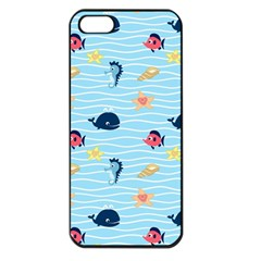 Fun Fish Of The Ocean Apple Iphone 5 Seamless Case (black)
