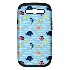 Fun Fish Of The Ocean Samsung Galaxy S Iii Hardshell Case (pc+silicone)