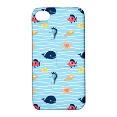 Fun Fish of the Ocean Apple iPhone 4/4S Hardshell Case with Stand