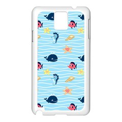 Fun Fish of the Ocean Samsung Galaxy Note 3 N9005 Case (White)