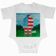 Painted Flag Big Foot Aust Infant Bodysuit