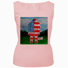 Painted Flag Big Foot Aust Women s Tank Top (Pink)
