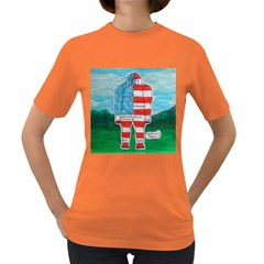 Painted Flag Big Foot Aust Women s T-shirt (Colored)
