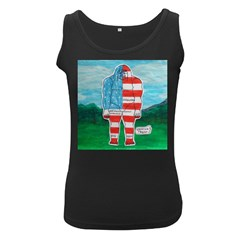 Painted Flag Big Foot Aust Women s Tank Top (black)