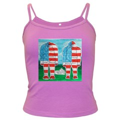2 Painted U,s,a,flag Big Foots Spaghetti Top (Colored)