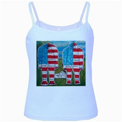 2 Painted Flag Big Foots Everglade Baby Blue Spaghetti Tank