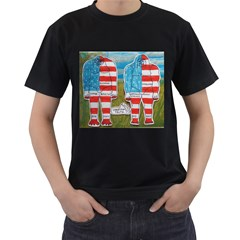 2 Painted Flag Big Foots Everglade Men s Two Sided T-shirt (Black)