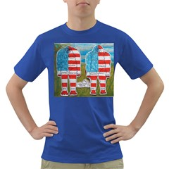 2 Painted Flag Big Foots Everglade Men s T-shirt (Colored)