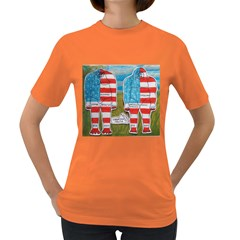 2 Painted Flag Big Foots Everglade Women s T-shirt (Colored)