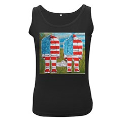 2 Painted Flag Big Foots Everglade Women s Tank Top (Black)