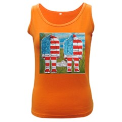 2 Painted Flag Big Foots Everglade Women s Tank Top (Dark Colored)
