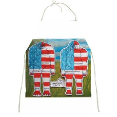 2 Painted Flag Big Foots Everglade Apron