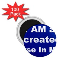 God Created 1 75  Button Magnet (100 Pack)