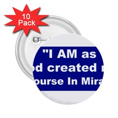 God Created 2.25  Button (10 pack)