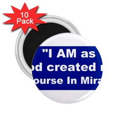 God Created 2 25  Button Magnet (10 Pack)