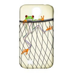 Peace Froggy Hanging On Backpack1 Samsung Galaxy S4 Classic Hardshell Case (PC+Silicone)