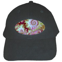 Raspberry Lime Delight, Abstract Ferris Wheel Black Cap