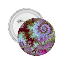 Raspberry Lime Delight, Abstract Ferris Wheel 2 25  Button