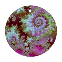 Raspberry Lime Delight, Abstract Ferris Wheel Ornament (Round)