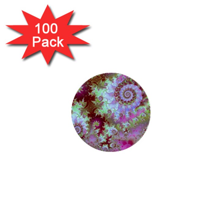 Raspberry Lime Delight, Abstract Ferris Wheel 1  Mini Button (100 pack)