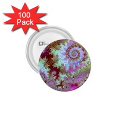 Raspberry Lime Delight, Abstract Ferris Wheel 1.75  Button (100 pack)