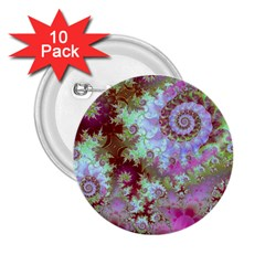 Raspberry Lime Delight, Abstract Ferris Wheel 2 25  Button (10 Pack)