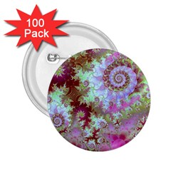 Raspberry Lime Delight, Abstract Ferris Wheel 2.25  Button (100 pack)