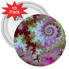 Raspberry Lime Delight, Abstract Ferris Wheel 3  Button (10 pack)