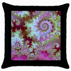 Raspberry Lime Delight, Abstract Ferris Wheel Throw Pillow Case (black)