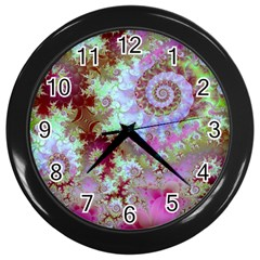 Raspberry Lime Delight, Abstract Ferris Wheel Wall Clock (Black)