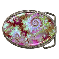Raspberry Lime Delight, Abstract Ferris Wheel Belt Buckle