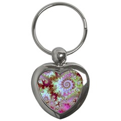 Raspberry Lime Delight, Abstract Ferris Wheel Key Chain (heart)
