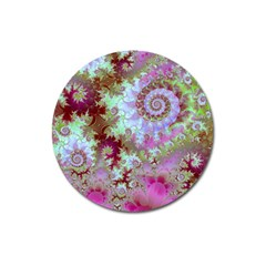 Raspberry Lime Delight, Abstract Ferris Wheel Magnet 3  (Round)