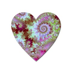 Raspberry Lime Delight, Abstract Ferris Wheel Magnet (Heart)