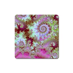 Raspberry Lime Delight, Abstract Ferris Wheel Magnet (Square)