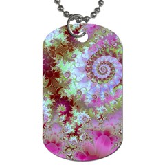 Raspberry Lime Delight, Abstract Ferris Wheel Dog Tag (One Side)