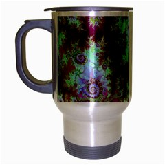 Raspberry Lime Delight, Abstract Ferris Wheel Travel Mug (silver Gray)