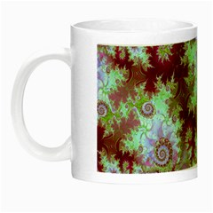 Raspberry Lime Delight, Abstract Ferris Wheel Night Luminous Mug