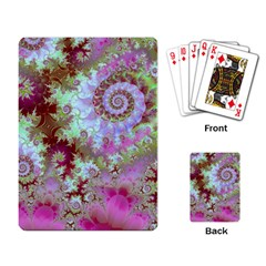 Raspberry Lime Delight, Abstract Ferris Wheel Playing Cards Single Design